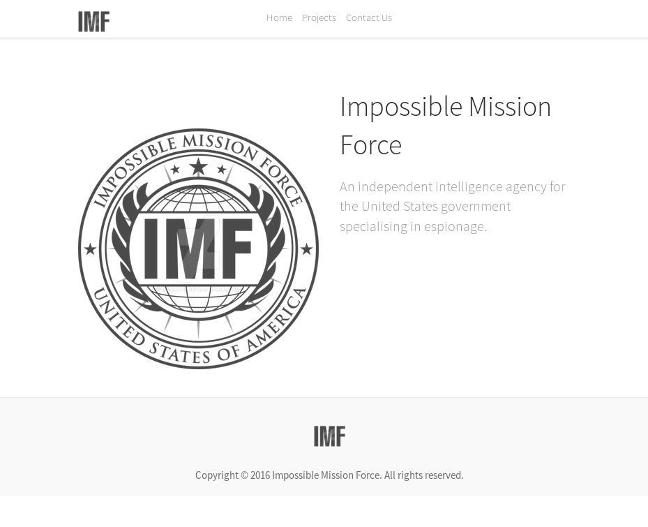 IMF landing page